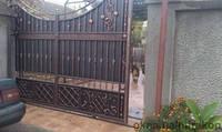 Кованные откатные ворота Одесса