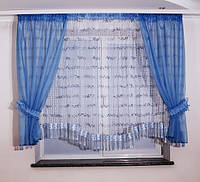 Готовые шторы для кухни макраме сетка