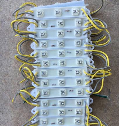 Светодиодный модуль пиранья MP-3Y120* желтый IP65 Код.53770, фото 2