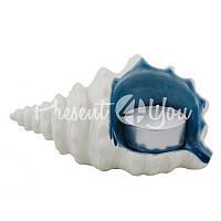 Морской сувенир подсвечник Ракушка, 13х8х6,5 см.