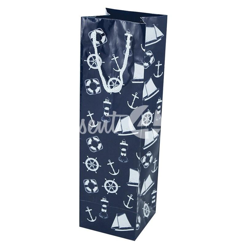 Морской сувенир подарочный пакет Sea Club, 10х10х35 см.