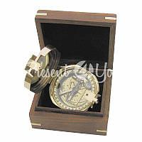 Морской сувенир компас в коробочке Sea Club, d-7,5 см.