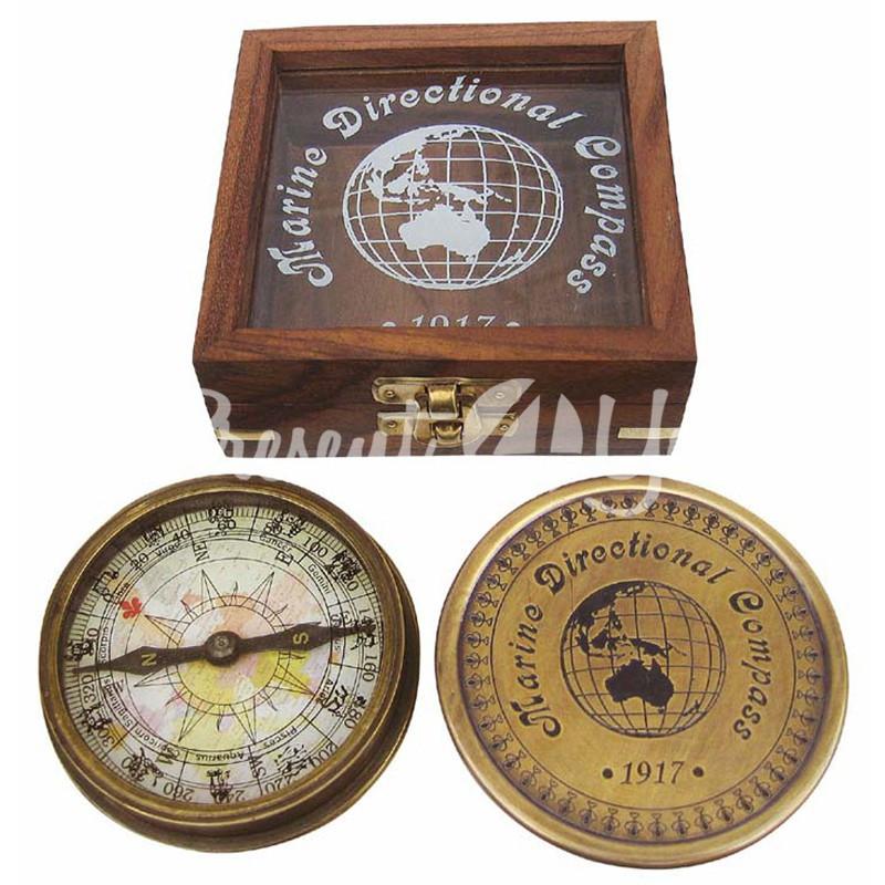 Морской сувенир компас, 10,5x10,5x3,5 см., Sea Club