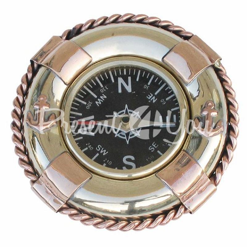 Морской сувенир компас Sea Club, d-6,5 см.