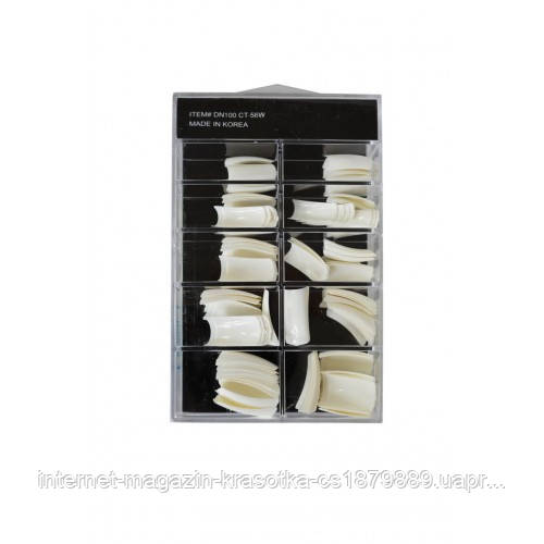 Типсы 100 шт SALON Professional белые - интернет-магазин Красоткам в Николаеве