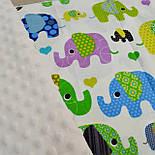 Отрез ткани с индийскими слонами, цвет зелёный №299а, фото 6
