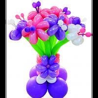 """Букет ваза """"Прелесть""""  11 цветков на подставке"""