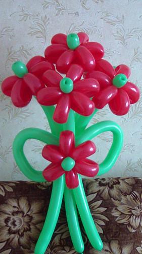 """Букет  """"Радость дня"""" 5 цветков с бантом"""