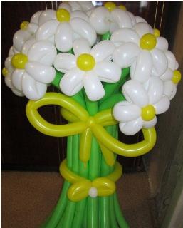 """Букет шариков """"Ромашковое поле""""  15 цветков"""