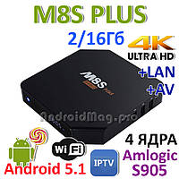 M8S+ Plus Amlogic S905 Android 5.1 TV приставка IPTV UltraHD 4K