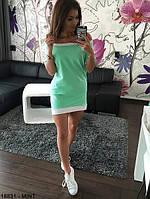 Женское платье свободное мята  р. 42,44,46
