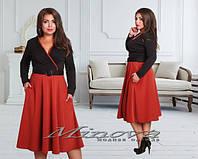 Женское платье средней длины Скарлет