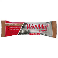 "WellMix Sport  Protein Riegel ""Schoko-Cookie"" - ПРОТЕИНОВЫЙ БАТОНЧИК С ВКУСОМ ШОКОЛАДА, 45 Г"