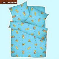 6112 голубой Ранфорс детское постельное белье Вилюта