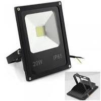 Прожектор светодиодный 20W 6500К slim уличный