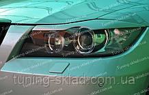Вії БМВ Е90 (накладки на передні фари BMW E90)