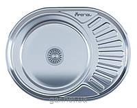 Мойка для кухни врезная 600 х 440 (6044) IMPERIAL 0,8 декор