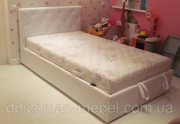 купить детская полуторная кровать на ламелях с ящиком и подъемным