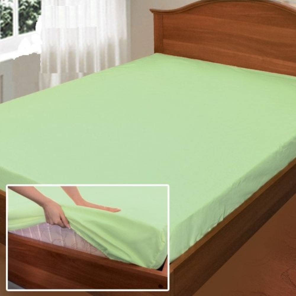 """Простынь на резинке """"Свежесть"""", поплин (80*190*25см) Комфорт-текстиль"""