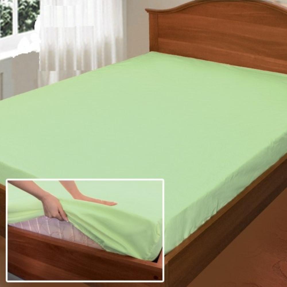 """Простынь на резинке """"Свежесть"""", поплин (90*200*25см) Комфорт-текстиль"""