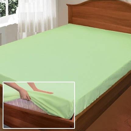 """Простынь на резинке """"Свежесть"""", поплин (180*200*34см) Комфорт-текстиль, фото 2"""