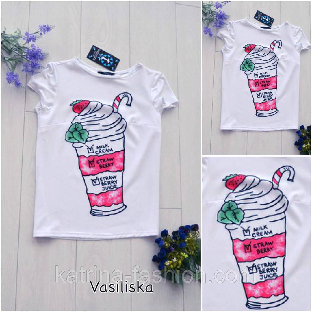 """Женская стильная футболка """"Мороженое"""""""