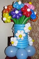 """Букет из шаров """"Райская клумба"""" 15 ромашек 7 цветков"""