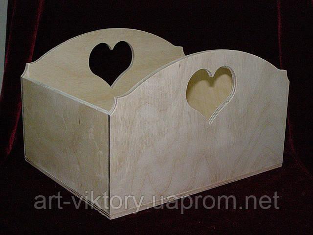 Короб великий сердечко (25 х 20 х 15 см)
