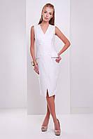 Женское платье-жилет на лето белого цвета