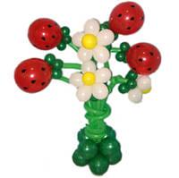 """Букет из шаров """"Ягодный рай"""" 7 цветков с подставкой"""