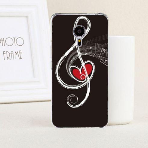 Чохол бампер з силікону для Meizu Pro 6 з картинкою скрипковий ключ