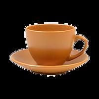 Чашка+блюдце 207мл для чая Теракота керамика Keramia 24226