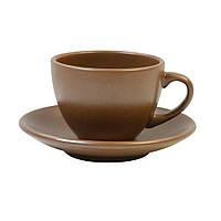 Чашка+блюдце для чая 207 мл Табако керамика 24249