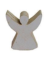 Декоративная игрушка Ангел силуэт белая