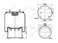 Пневморессора подвески 813MB (стакан металический)