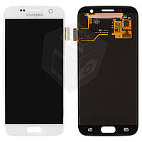 Дисплейный модуль (дисплей + сенсор) для Samsung Galaxy S7 G930F, белый, оригинал