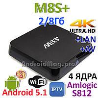 M8S+ plus Amlogic S812 IPTV Smart TV Google TV Box Android 4.4