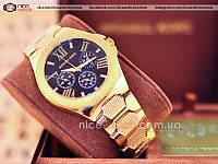 Часы женские Michael Kors Золотые Металлические без стразов, классические без календаря