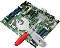 """Ремонт материнской платы компьютера  """"Базовый"""" замена звуковых разъемов, USB, разъема питания"""