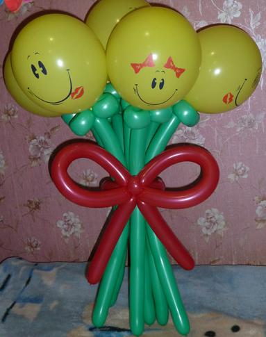 """Букет """"Смайлики"""" 5 цветков"""