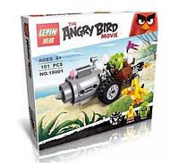 "Конструктор Angry Birds Lepin 19001 (аналог LEGO 75821) ""Побег на автомобиле свинок"", 101 дет, фото 1"