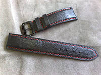 Ремешок из теленка с красной строчкой