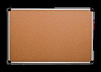 Доска для объявлений пробковая алюминиевая рама S-LINE  60 х 90 см.