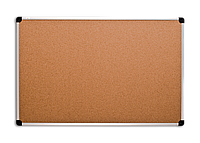 Доска для объявлений пробковая алюминиевая рама S-LINE  60 х 100 см.