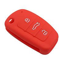 Силіконовий чохол на ключ Audi червоний