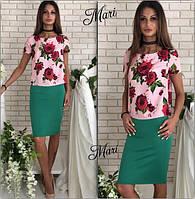 Модный юбочный костюм в расцветках 464 (м86)