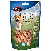 Trixie PREMIO Fish Chicken Sticks Палочки жевательные с курицей и рыбой, 80г