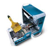 Очистка от пыли элементов внутренней части корпуса, смазка активной системы охлаждения компьютера