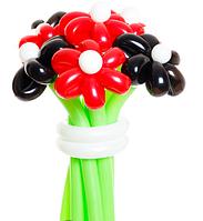 Букет из шаров «Поцелуй черной бабочки» 11 цветов из шаров
