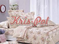"""Полуторное постельное белье Бязь/Голд комплект 150*220 """"Букеты на бежевом"""""""